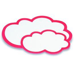 magnetoplan Moderationskarten Wolken, 430 x 265 mm