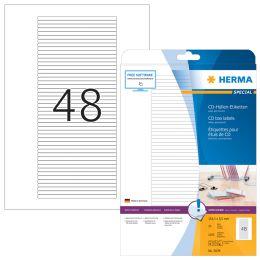 HERMA SPECIAL CD-Cover-Etiketten, 114,3 x 5,5 mm, weiß