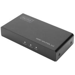 DIGITUS 4K HDMI Splitter, 2-fach, mit Downscaler, schwarz