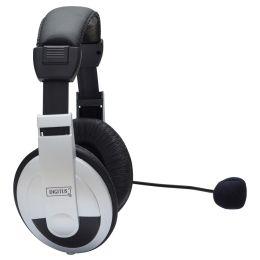 DIGITUS Stereo Multimedia Headset, schwarz / silber