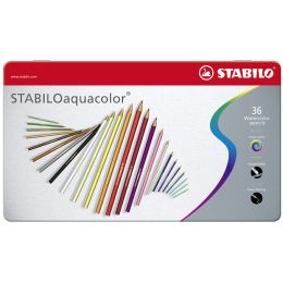 STABILO Aquarell-Buntstift aquacolor, 36er Metall-Etui