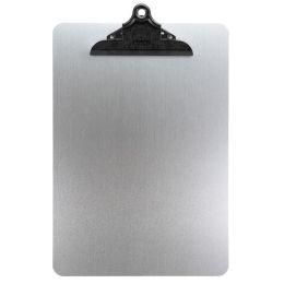 Securit Speisekarten-Klemmbrett, DIN A4, aus Metall, silber