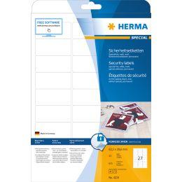 HERMA Verschlussetiketten SPECIAL, 45,7 x 21,2 mm, weiß