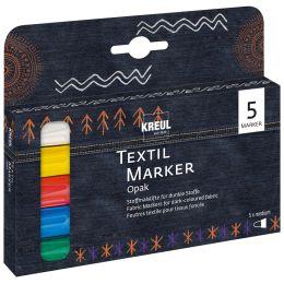 KREUL Textilmarker JAVANA texi mäx OPAK, 5er-Set