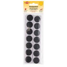 KLEIBER Klettpunkte, Durchmesser: 25 mm, schwarz