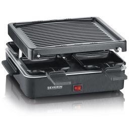 SEVERIN Mini-Raclette-Grill RG 2370, Edelstahl/schwarz