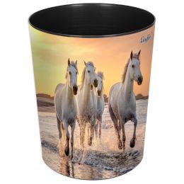 Läufer Papierkorb Pferde am Strand
