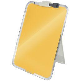 LEITZ Glas-Notizboard Cosy für den Schreibtisch, gelb