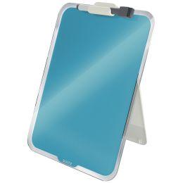 LEITZ Glas-Notizboard Cosy für den Schreibtisch, blau