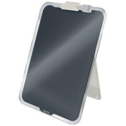 LEITZ Glas-Notizboard Cosy für den Schreibtisch, grau