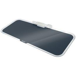 LEITZ Glas-Memoboard Cosy für den Schreibtisch, grau