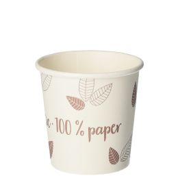 PAPSTAR Papp-Trinkbecher pure ZERO, 0,1 l, beige/lila
