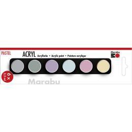 Marabu Acrylfarben-Set PASTELL, 6 x 3,5 ml