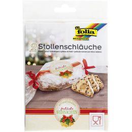 folia Stollenschläuche mit Weihnachtsdruck, transparent