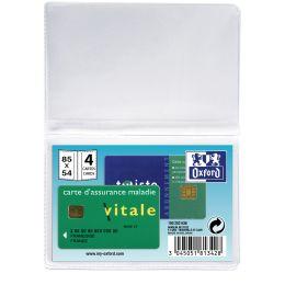 Oxford Kreditkartenhülle für 4 Kreditkarten, 0,20 mm, PVC