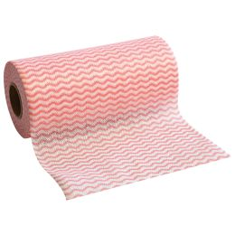HYGOCLEAN Sp�l- & Reinigungstuch ECO, auf Rolle, rot