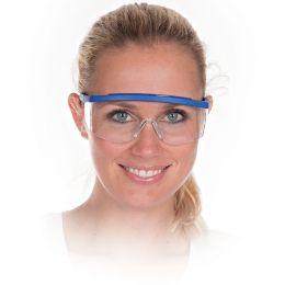 HYGOSTAR Allzweck-Schutzbrille BLAU, Scheibentönung: klar
