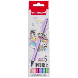 bruynzeel Fineliner Light, 6er Karton-Etui