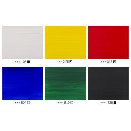ROYAL TALENS Acrylfarbe AMSTERDAM General Selection, 6x20 ml