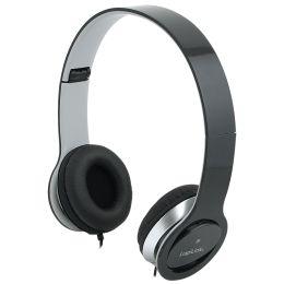 LogiLink Headset High Quality, faltbar, schwarz