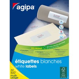 agipa Adress-Etiketten, 38 x 21,2 mm, weiß