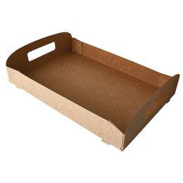 PAPSTAR Tragetablett pure, 457 x 300 x 45 mm, braun