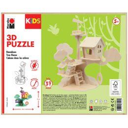 Marabu KiDS 3D Puzzle Baumhaus, 37 Teile