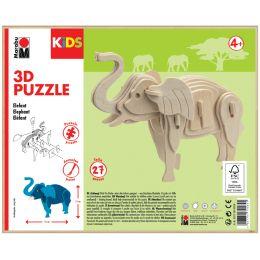Marabu KiDS 3D Puzzle Elefant, 27 Teile