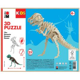 Marabu KiDS 3D Puzzle T-Rex Dinosaurier, 29 Teile