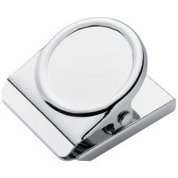WESTCOTT Magnetclip, 38 x 45 mm, silber/chrom, 3er Pack