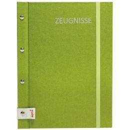 ROTH Zeugnismappe Metallium mit Buchschrauben, grün