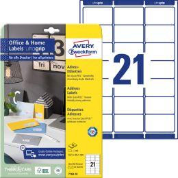 AVERY Zweckform Adress-Etiketten Home Office, 63,5 x 38,1 mm
