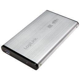 LogiLink 2,5 SATA Festplatten-Gehäuse, USB 3.0, silber