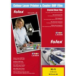 FOLEX Color-Laserfolie BG-72, DIN A4, transparent