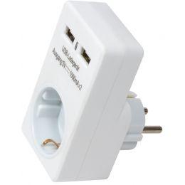 LogiLink USB-Ladegerät, 2 x USB-Kupplung, weiß