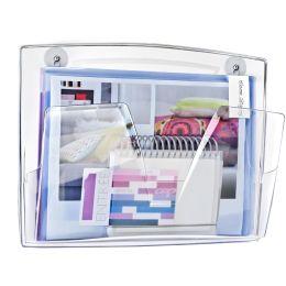 CEP Wandprospekthalter, magnetisch, DIN A4, 1 Fach, grau