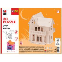 Marabu KiDS 3D Puzzle Traumhaus, 33 Teile