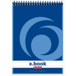 herlitz Spiralnotizblock x.book, DIN A5, 50 Blatt, liniert