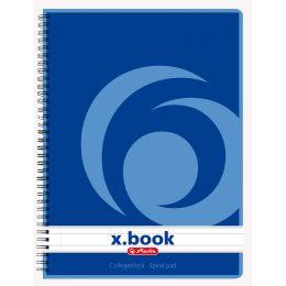 herlitz Collegeblock x.book DIN A5, 80 Blatt, liniert