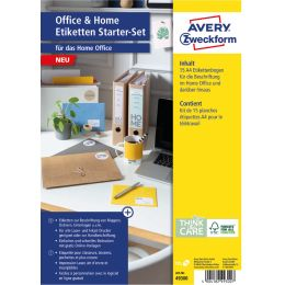 AVERY Zweckform Etiketten Starter-Set Office & Home