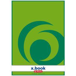 herlitz Briefblock x.book, A4, ungelocht, 50 Blatt, kariert