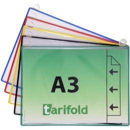tarifold Hängetafel DIN A3 quer, farbig sortiert