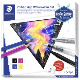 STAEDTLER Trendset Design Journey Sternzeichen Aquarell-Set