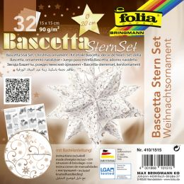 folia Faltblätter Bascetta-Stern Ornament 1, 150 x 150 mm