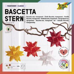folia Faltblätter Bascetta-Stern, 75 x 75 mm, transparent