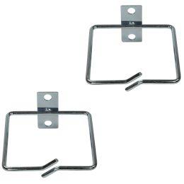 LogiLink Kabelführungsbügel-Set, Stahl, 80 x 80 mm, verzinkt