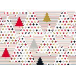 SUSY CARD Weihnachts-Geschenkpapier Trees red/black