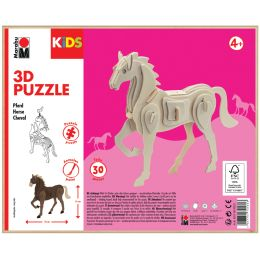 Marabu KiDS 3D Puzzle Pferd, 30 Teile