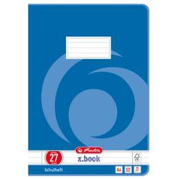 herlitz Schulheft x.book, DIN A4, Lineatur 27 / liniert