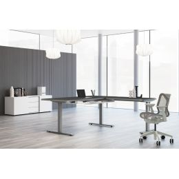 kerkmann Sitz-Steh-Schreibtisch Move 3 Premium mit Anbau